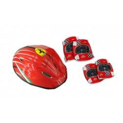 Set accesorii protectie bicicleta role trotineta Saica Ferrari