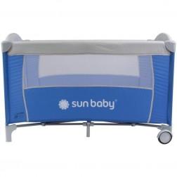 Patut Pliabil cu un nivel Sweet Dreams - Sun Baby - Albastru