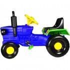 Tractor cu pedale pentru copii Turbo albastru Super Plastic Toys