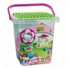 Set constructie Plus Hello Kitty Galetusa cu placa de montat 104 piese - Unico