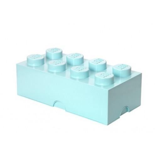 Cutie depozitare LEGO 2x4 albastru aqua