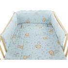 Lenjerie MyKids Teddy Stelute Blue M2 4+1 Piese 120x60