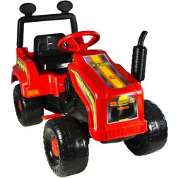 Tractor cu pedale Mega Farm rosu Super Plastic Toys