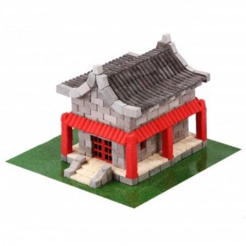 Kit constructie caramizi Wise Elk Casa chinezeasca 600 piese reutilizabile