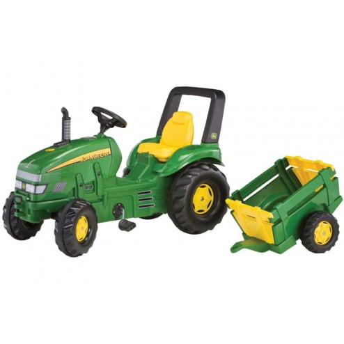 Tractor Cu Pedale Si Remorca Copii ROLLY TOYS 035762 Verde