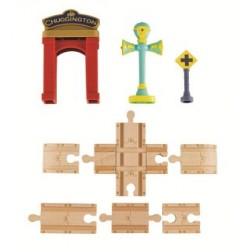 Chuggington Lemn - Set sine cu arcada si Vee