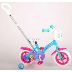 Bicicleta pentru copii cu maner parental si roti ajutatoare, Volare Baby Shark