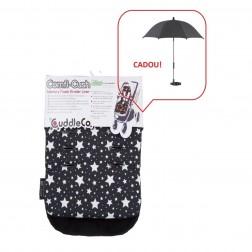 Saltea carucior Comfi-Cush Black&White Stars 842094 + Umbreluta solara 72152 gratuit