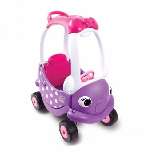 Masinuta din plastic de impins cu maner mov cu roz - Grow n Up