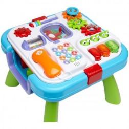 Masuta si centru activitati bebelusi Globo Vitamina G 0512 2 in 1 muzical si cuburi constructie