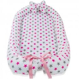 Baby Nest din Cocos MyKids Stars Pink
