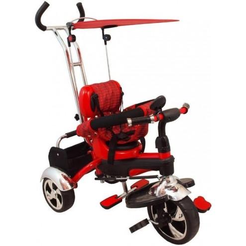 Tricicleta multifunctionala Happy Days - rosu
