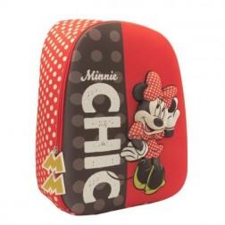 Ghiozdan clasele I-IV 3D 2 fermoare Minnie Pigna si minge cadou