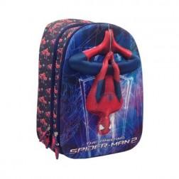 Ghiozdan Cl I-IV 3D 2 Fermoare Spiderman Pigna si minge cadou