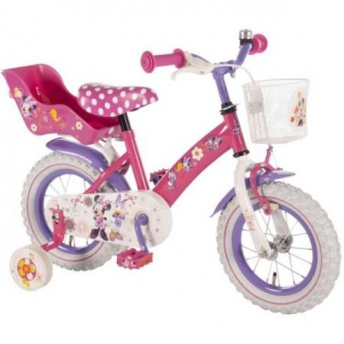 Bicicleta copii Minnie Mouse cu roti ajutatoare 12 inch - Volare