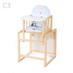 Scaun de masa multifunctional din lemn pentru copii Aga Natur C3 - Klups