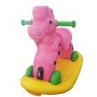 Calut balansoar cu roti Speedy galben si roz Super Plastic Toys