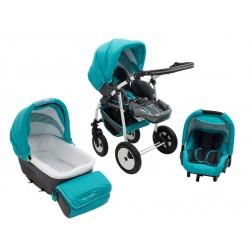 Carucior Copii 3 In 1 MyKids Futuro Turquoise