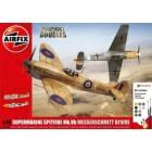 Kit constructie avioane Supermarine Spitfire Mk. Vb si Messerschmitt Bf109E-7