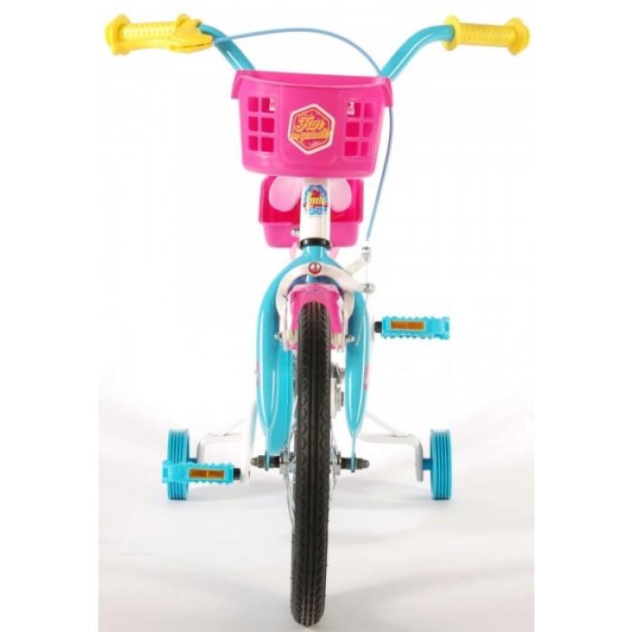 Bicicleta fete 16 inch, cu scaun pentru papusi, roti ajutatoare si cosulet, Soy Luna - Volare
