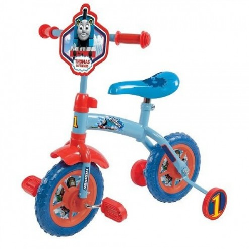 Bicicleta copii Thomas and Friends 10 inch 2 in 1 cu si fara pedale