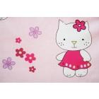 Lenjerie MyKids Little Cat ROZ 4+1 Piese 120x60