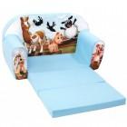 Canapea extensibila din burete pentru copii Happy Farm Trade