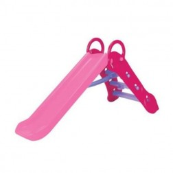 Tobogan pentru copii Grown Up Maxi Slide pliabil si ajustabil pe inaltime Roz