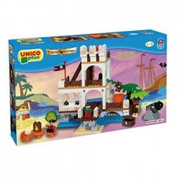 Set cuburi constructie Insula cu Pirati Unico