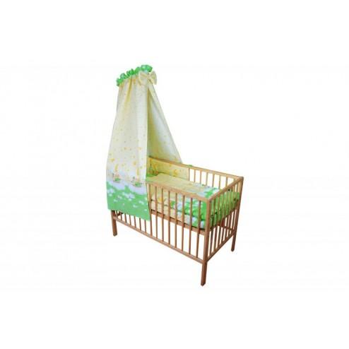 Lenjerie MyKids Teddy Norisori Verde 5 Piese 120x60 cm