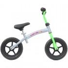Bicicleta fara pedale transformabila 12 inch Gri cu verde - Mamakids