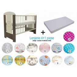 Pachet 3 in 1 Patut Sweet Bear 120x60 - Klups