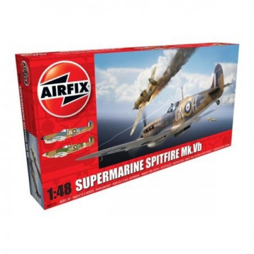 Kit aeromodele Airfix 5125 Avion Supermarine Spitfire MkVb Scara 1:48