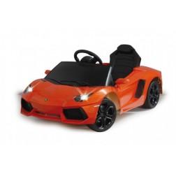 Masinuta electrica copii Lamborghini Aventador Portocaliu Jamara 6V cu telecomanda control parinti 2.4 Ghz si MP3 player