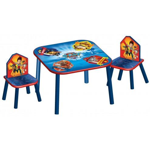 Set masuta si 2 scaunele Paw Patrol
