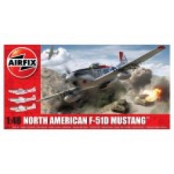 Kit constructie Airfix Avion North American F-51D Mustang 1:48
