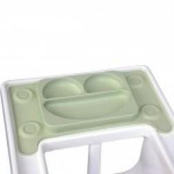 Farfurie autodiversificare portabila EasyMat Perfect fit Ikea EasyTots speciala din cauciuc cu ventuze Verde tip tava
