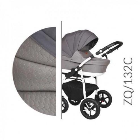 Carucior 3 in 1 cu Cadru Alb Baby Merc Zippy Q - ZQ132C