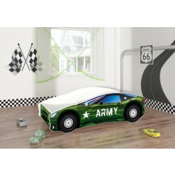 Pat Tineret Race Car 07 Army 160x80 - MyKids