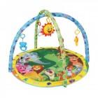 Saltea de joaca cu muzica si centru activitati Baby Mix pentru bebelusi cu arcade si jucarii Animale Safari