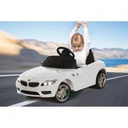 Masinuta electrica copii BMW Z4 alba Jamara 6V cu telecomanda control parinti 27 Mhz