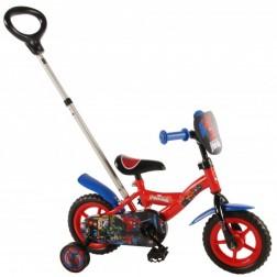 Bicicleta pentru baieti 10 inch, cu maner si roti ajutatoare, Spiderman
