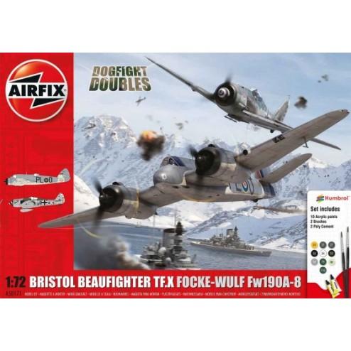 Airfix Set 2 avioane Bristol Beaufighter Mk.X si Focke-Wulf Fw190-8 scara 1:72