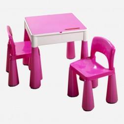 Masuta Guliver cu 2 scaune - Tega Baby - Roz