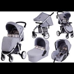 Carucior copii 3 in 1 SQUARE JEANS - Carello