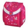 Ghiozdan neechipat Flexi Pink Butterfly Ergonomic Herlitz