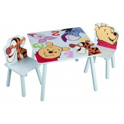 Set masuta si 2 scaunele Disney Winnie and Friends