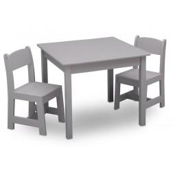 Masuta si 2 scaunele pentru copii Premium Grey - Delta Children