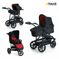 Set Carucior Rapid 3 Plus Trio Set Caviar/Tango - Hauck