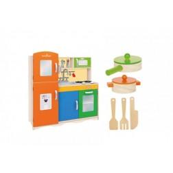 Bucatarie din lemn cu accesorii 80 X 30.5 X 85 cm pentru copii - Globo